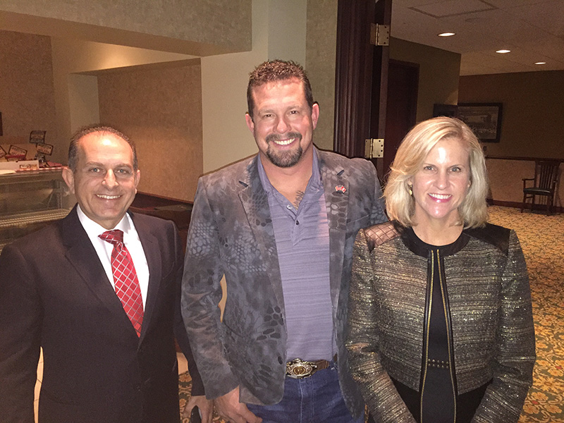 "Tonia and husband, Joe, with John ""Tig"" Tiegen, Hero of Benghazi Attack and Co-Author of ""13 Hours"""