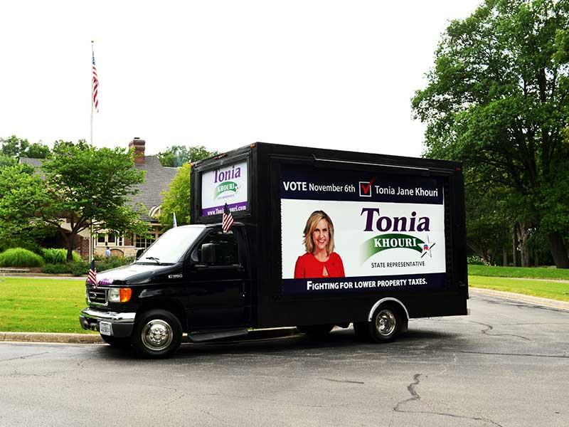 Tonia's Campaign Truck